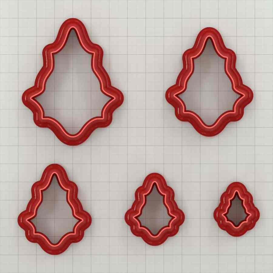 Set of 5 cutters: ROMANTIC#3