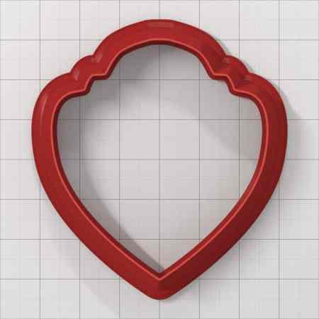 Set of 5 cutters: HEART#1