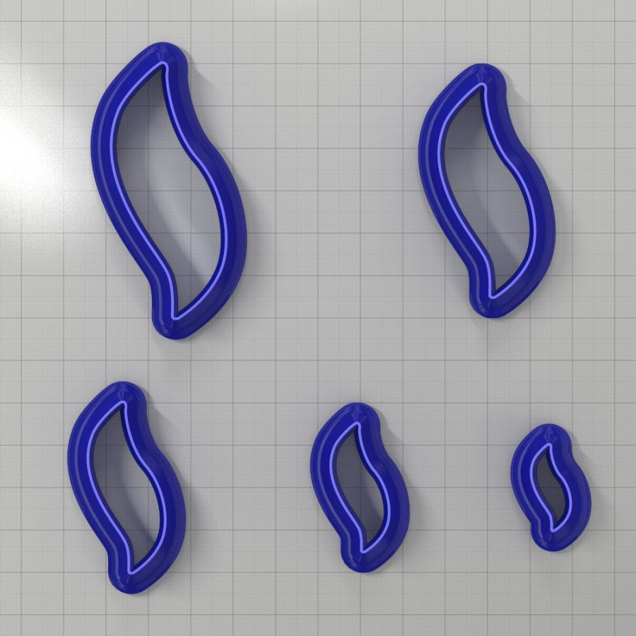 Set of 5 cutters: DROPS#8 Right