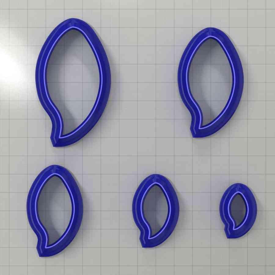 Set of 5 cutters: DROPS#12 Left