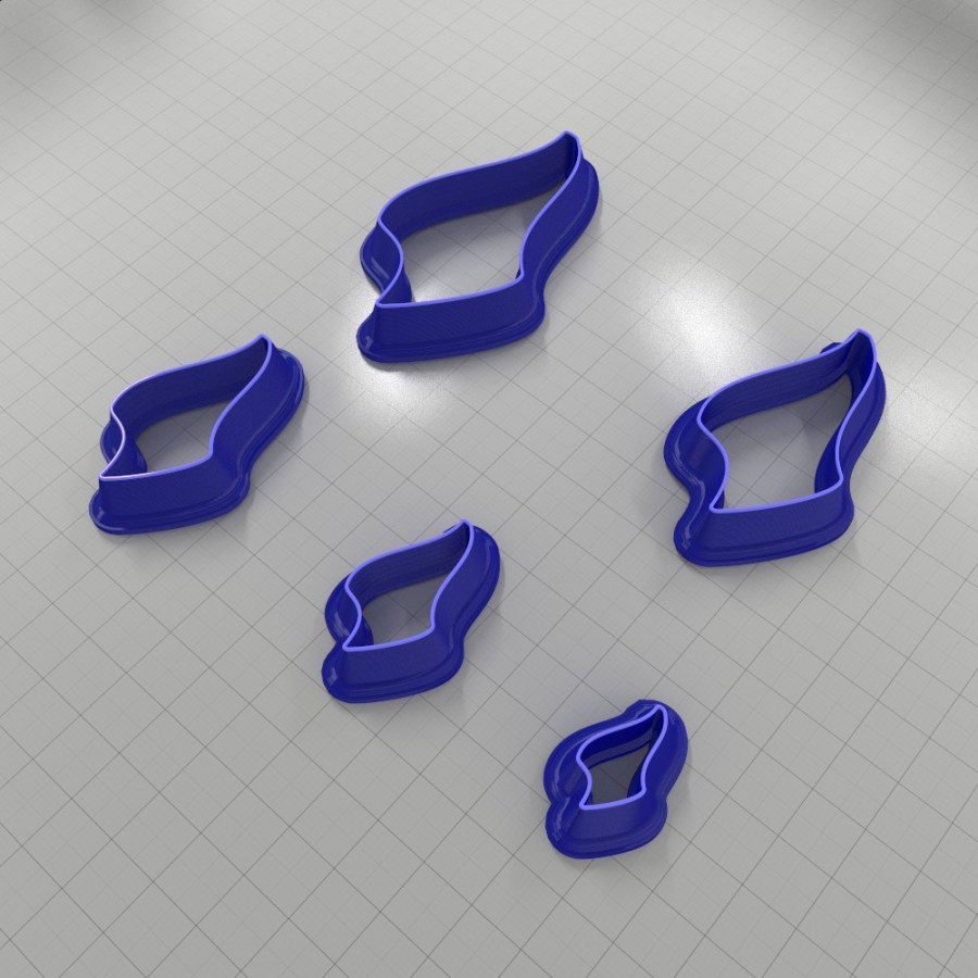 Set of 5 cutters: DROPS#27 Left