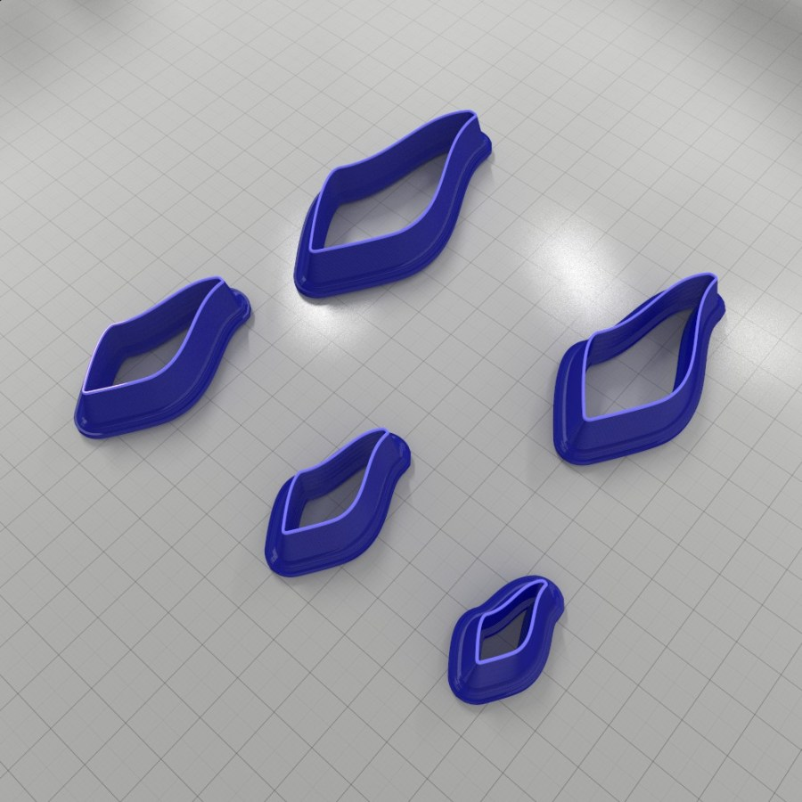 Set of 5 cutters: DROPS#29 Right