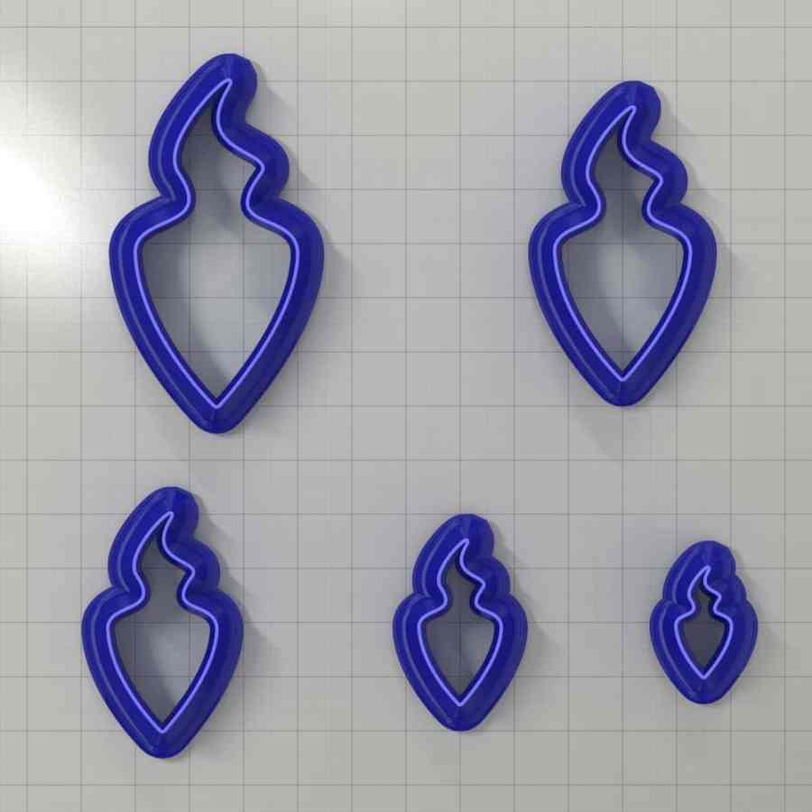 Set of 5 cutters: DROPS#43 Left
