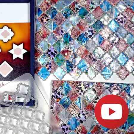 Colorful Tiles Veneer with Foils. New Technique