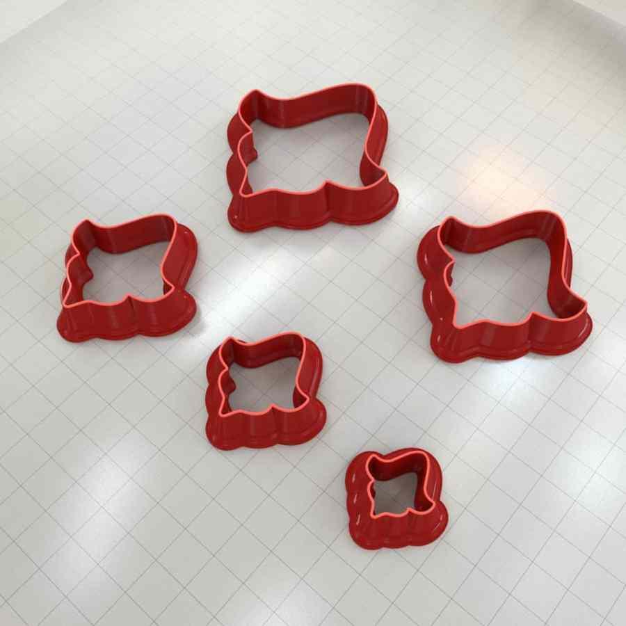 Set of 5 cutters: ROMANTIC#8