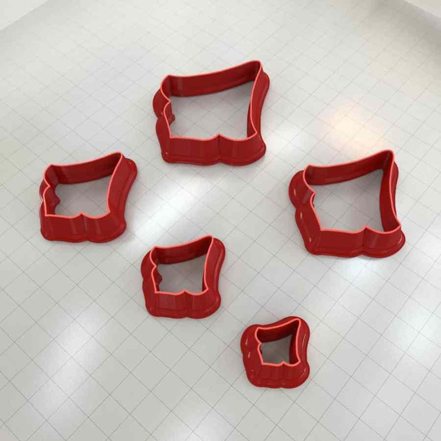 Set of 5 cutters: ROMANTIC#12