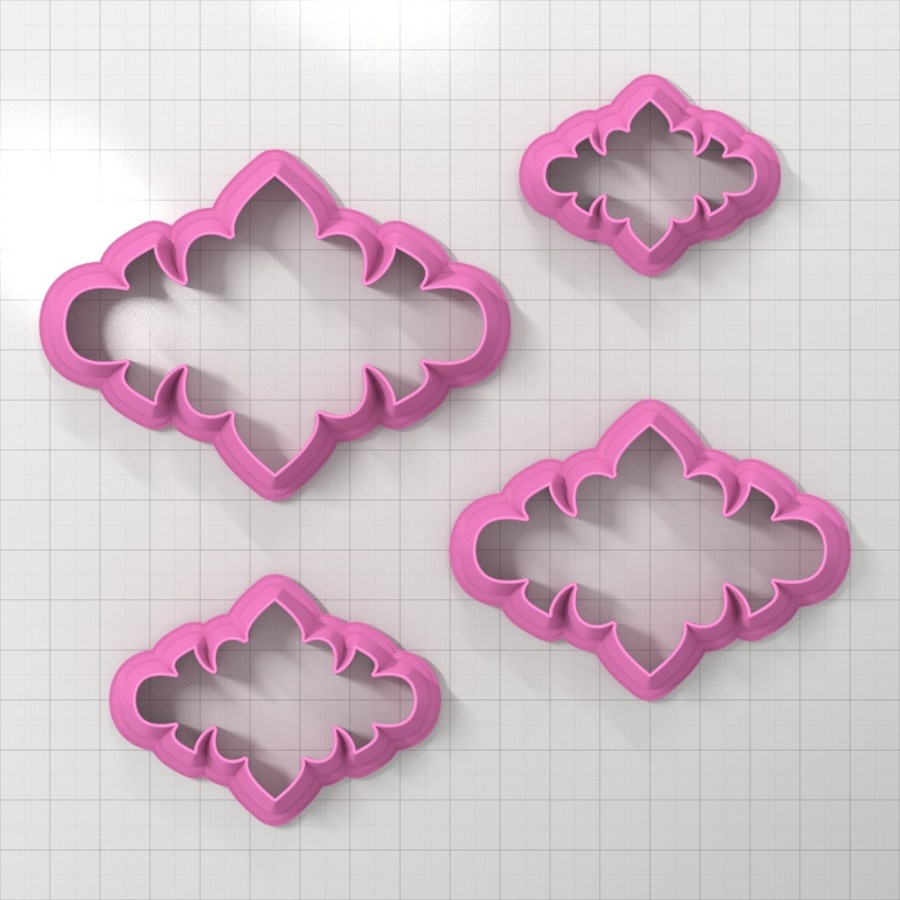 Set of 4 cutters - Focal Element #2 - 3,4,5,6cm