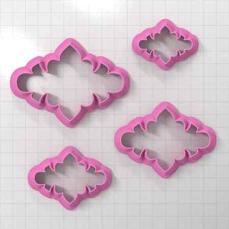 Set of 4 cutters – Focal Element #2 – 3,4,5,6cm