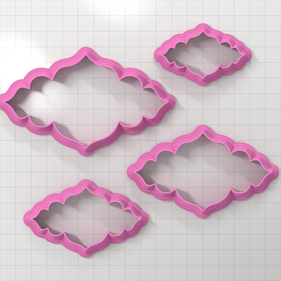 Set of 4 cutters - Focal Element #12 - 3,4,5,6cm