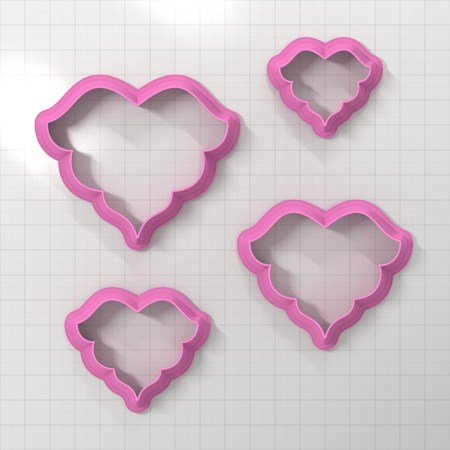 Set of 4 cutters – Focal Element #15 – 3,4,5,6cm