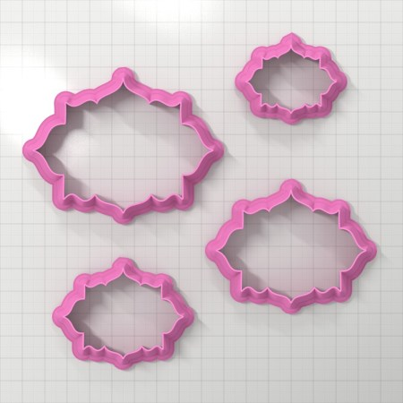 Set of 4 cutters – Focal Element #26 – 3,4,5,6cm
