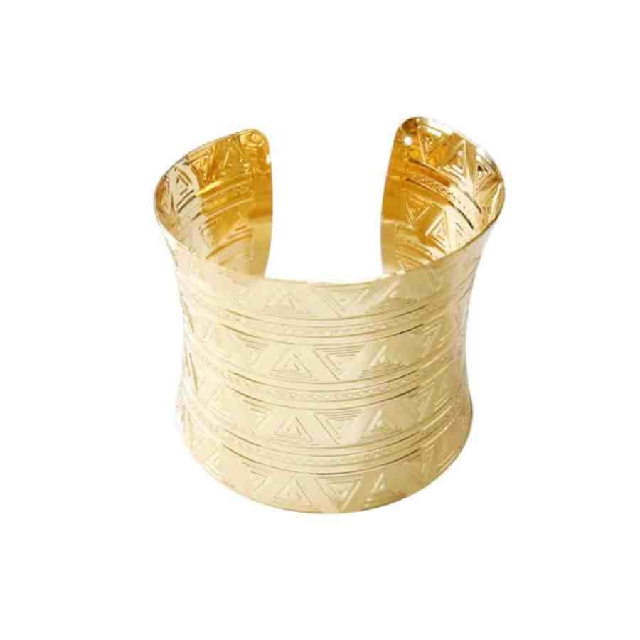 Golden Triangles Metal Bracelet Base (6x7cm)