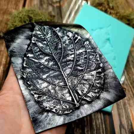 Large Leaf Pattern – Handmade real leaf texture-mold #2