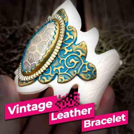 Vintage Leather Bracelet – easy bracelet-making tutorial