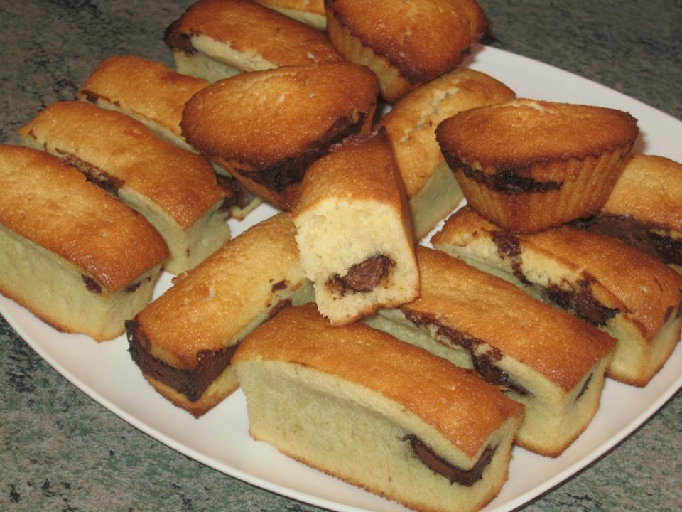 Financiers au Nutella