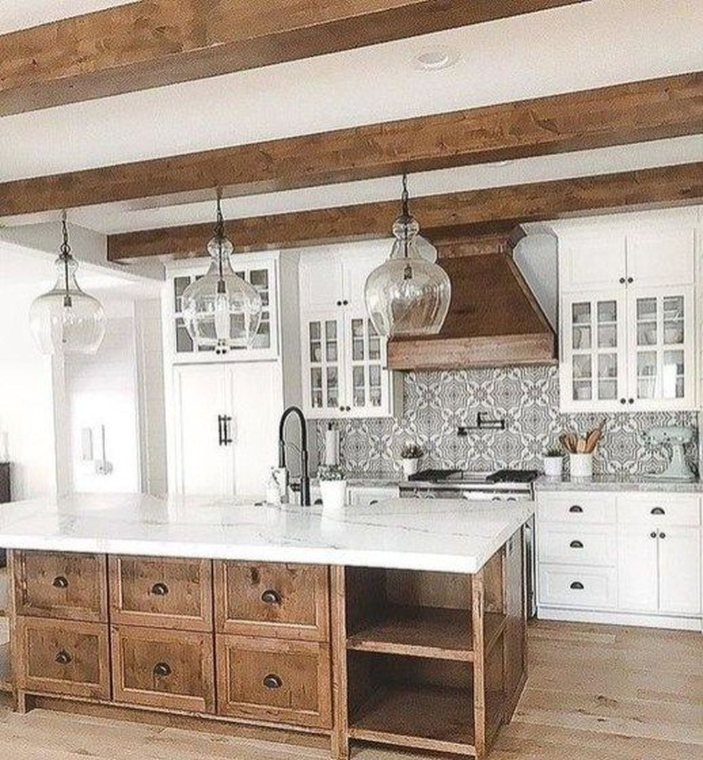 Amazing Remodeling Farmhouse Kitchen Decorations 48