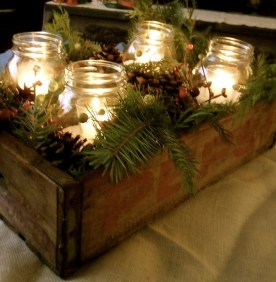 Applying Wooden Planks Correctly To Make Rustic Winter Home Decoration 32