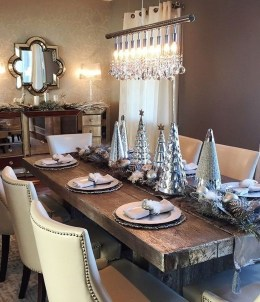 Beautiful Christmas Dining Room Decor Ideas Should You Apply This Winter 28