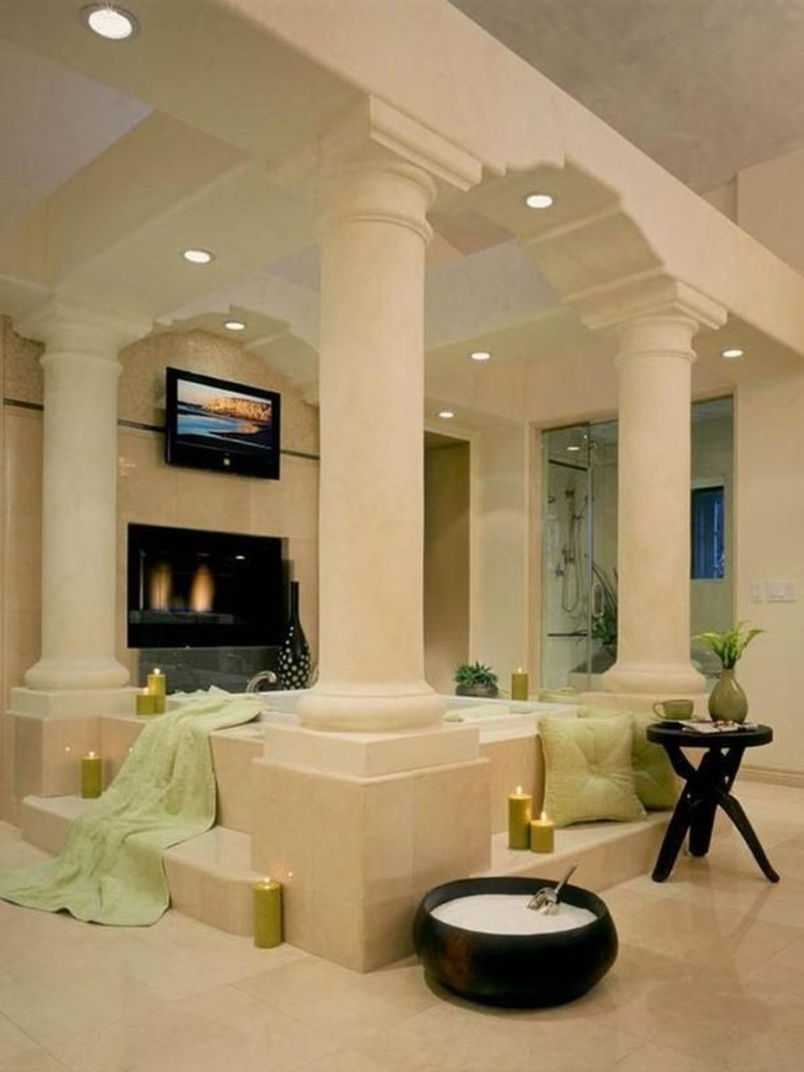 Beautiful Romantic Bathroom Decorations 06