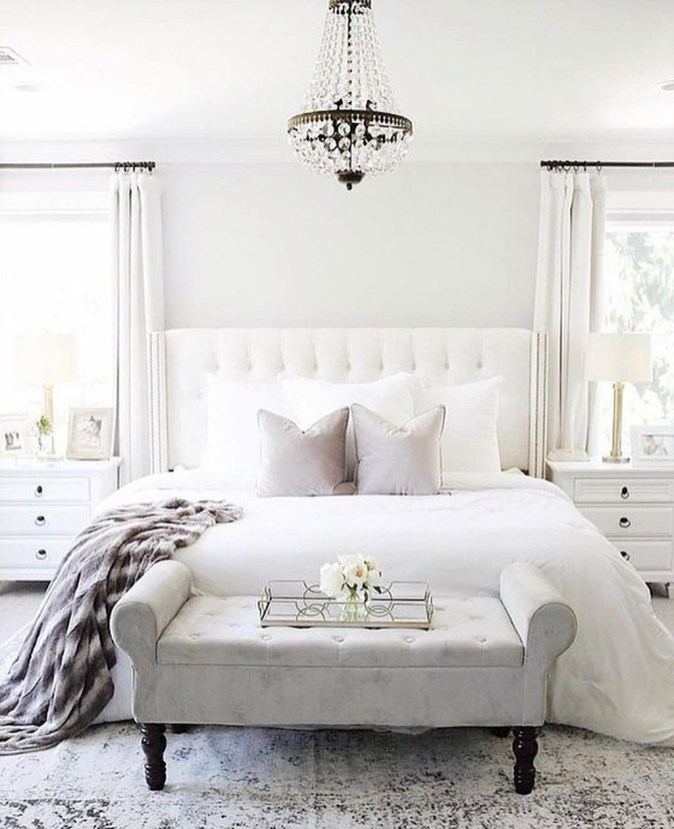 Beautiful White Bedroom Design Ideas 16