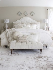 Beautiful White Bedroom Design Ideas 27