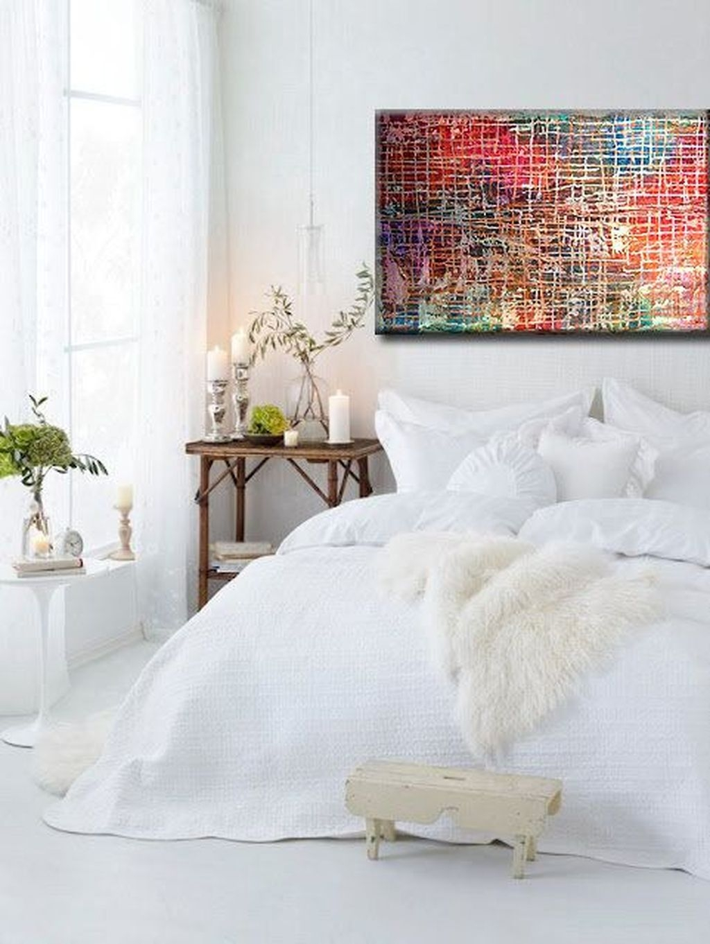 Beautiful White Bedroom Design Ideas 36