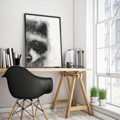 Modern Minimalist House Design In Black And White Color Scheme 14