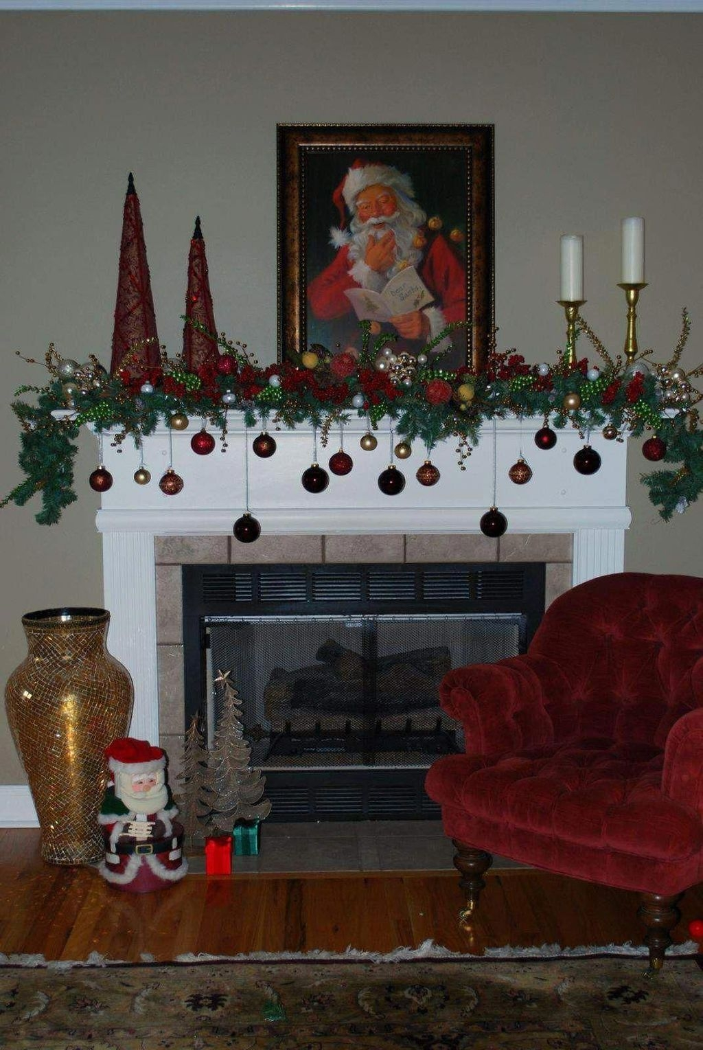 Nice Mantel Decorations Best For Winter 42