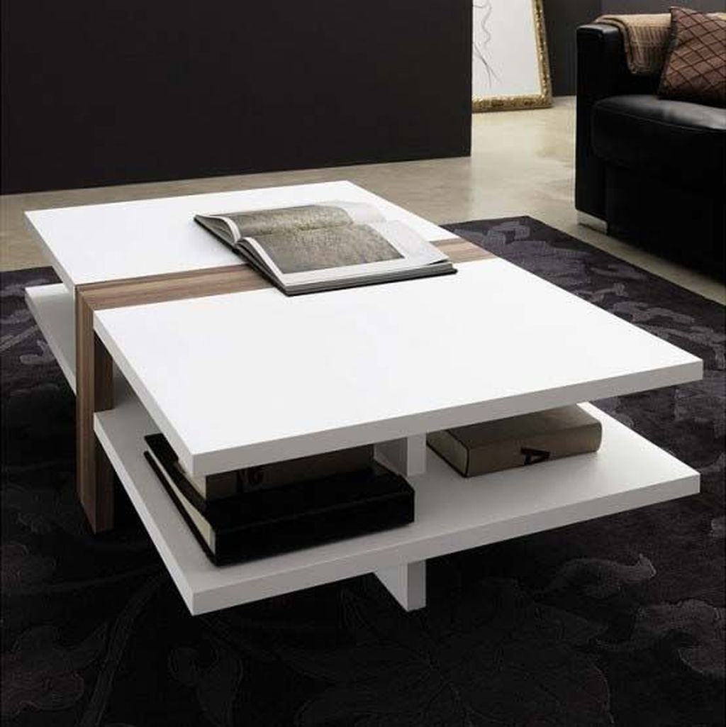 Popular Modern Coffee Table Ideas For Living Room 40