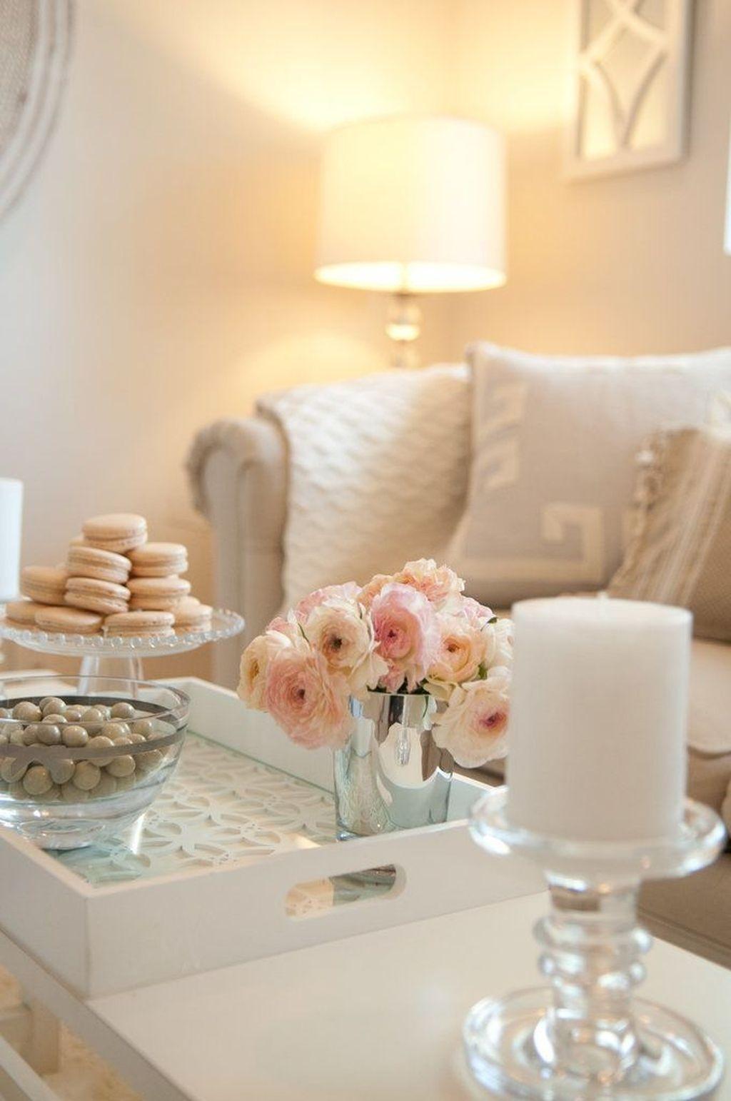 Stunning Romantic Living Room Decor 33