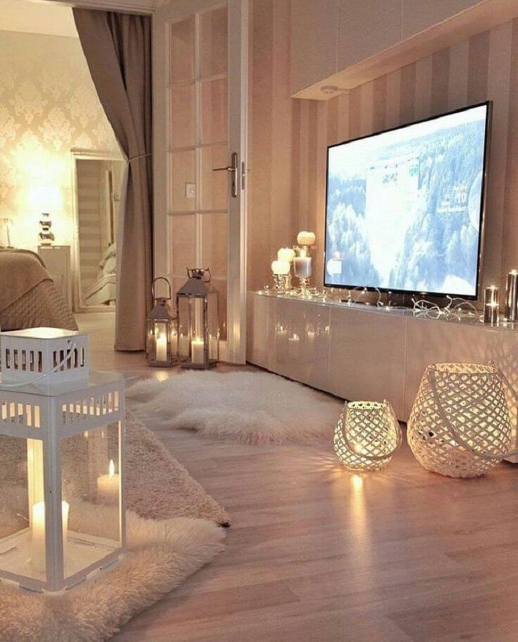Stunning Romantic Living Room Decor 43