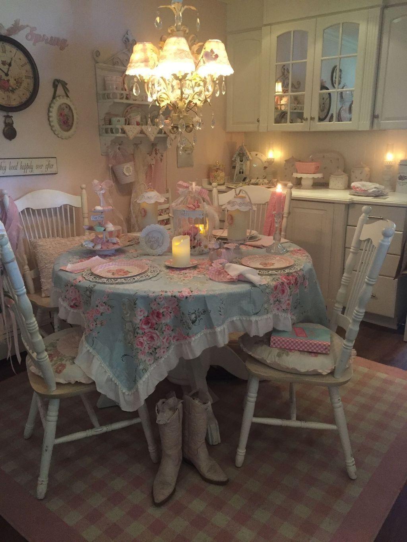 Sweet Romantic Dining Room Decor 07