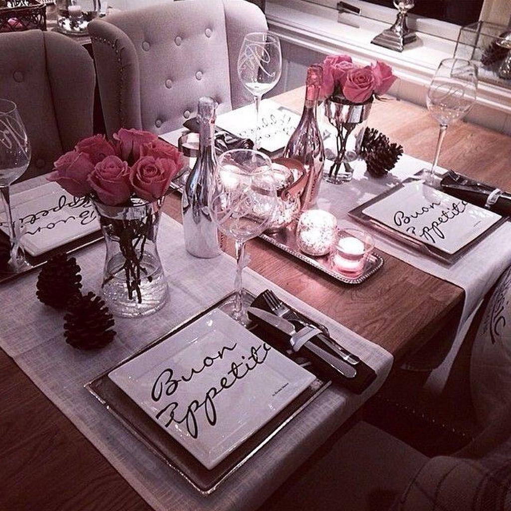 Sweet Romantic Dining Room Decor 10