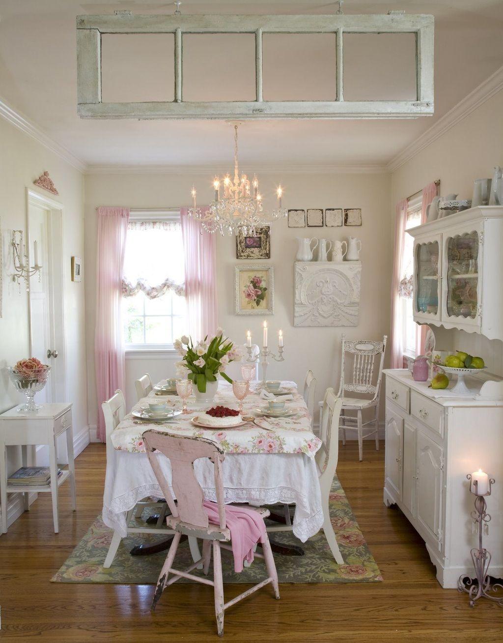 Sweet Romantic Dining Room Decor 17