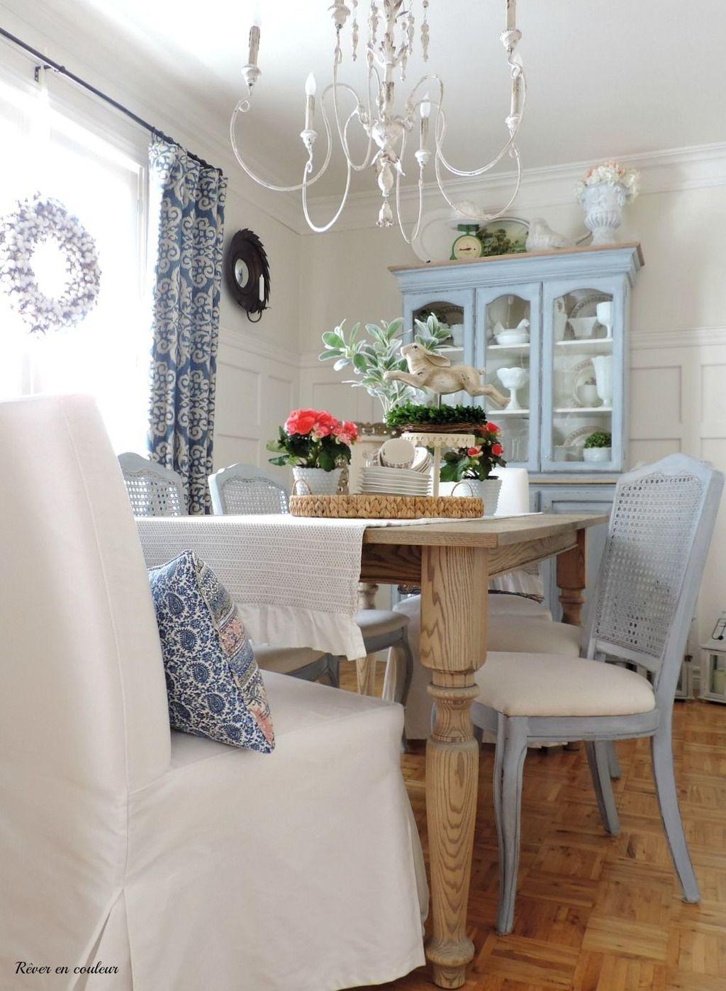 Sweet Romantic Dining Room Decor 26