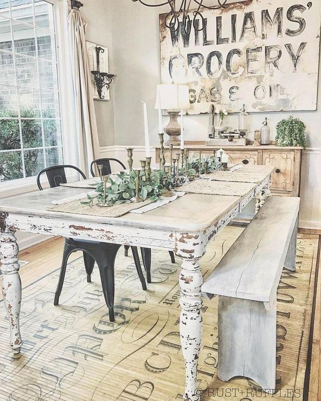 Amazing Rustic Dining Room Design Ideas 22