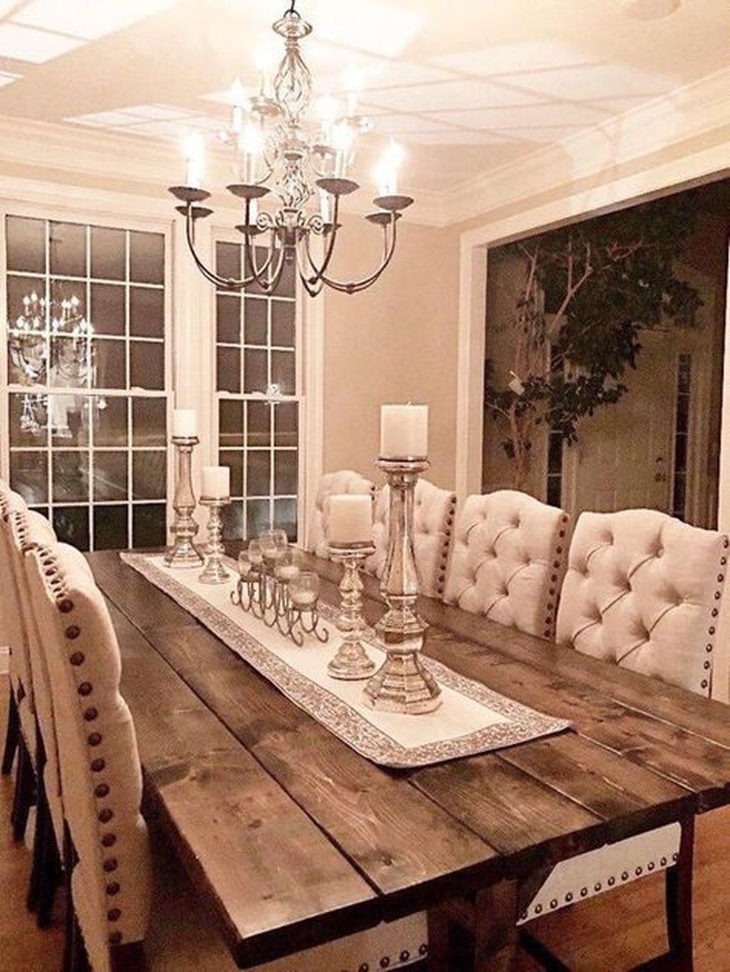 Amazing Rustic Dining Room Design Ideas 30