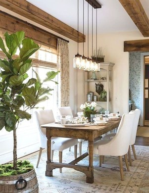 Amazing Rustic Dining Room Design Ideas 42