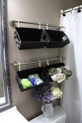 Awesome Hanging Bathroom Storage For Small Spaces 09
