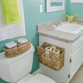 Awesome Hanging Bathroom Storage For Small Spaces 35