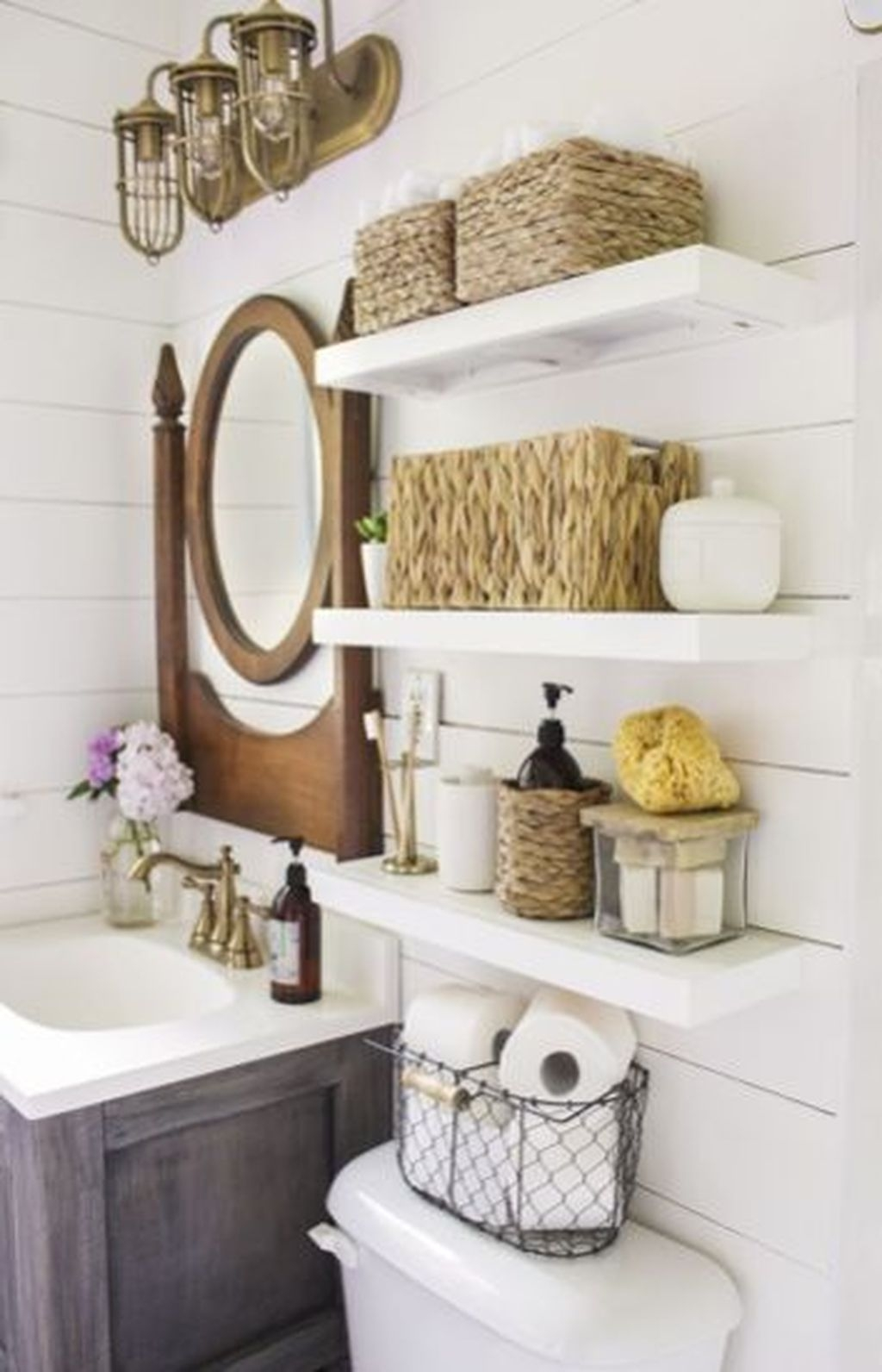 Awesome Hanging Bathroom Storage For Small Spaces 40