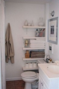 Awesome Hanging Bathroom Storage For Small Spaces 45