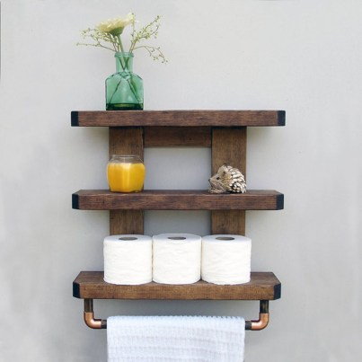 Awesome Hanging Bathroom Storage For Small Spaces 48