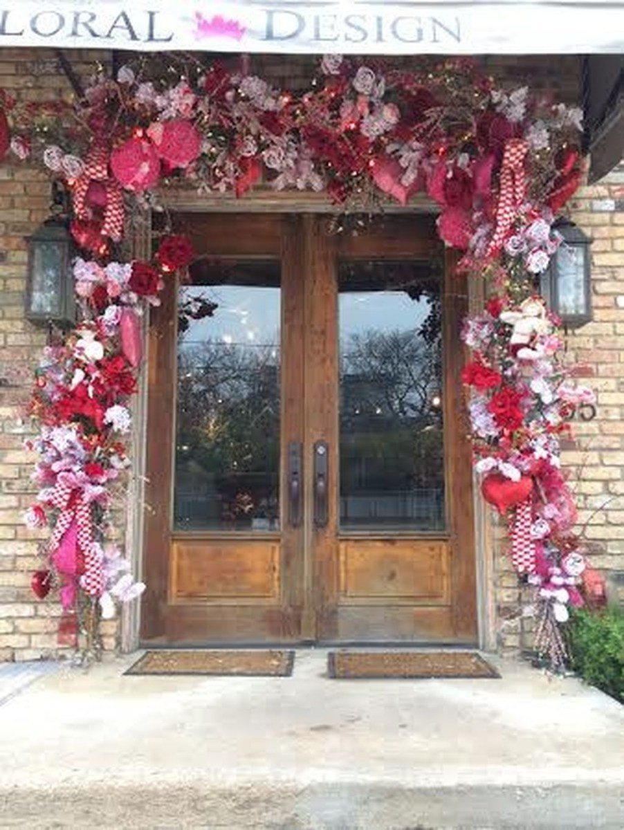 Front Porch Valentines Day Decor With LOVE Word 21