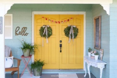 Front Porch Valentines Day Decor With LOVE Word 34