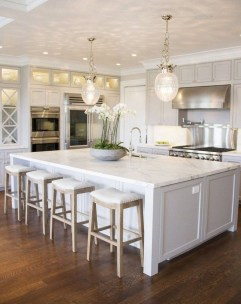 Kitchen Island Design Ideas With Marble Countertops 29