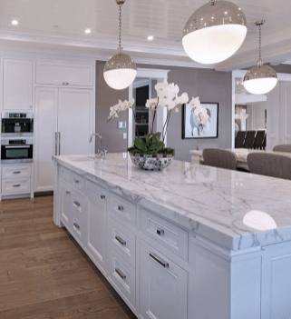Kitchen Island Design Ideas With Marble Countertops 34
