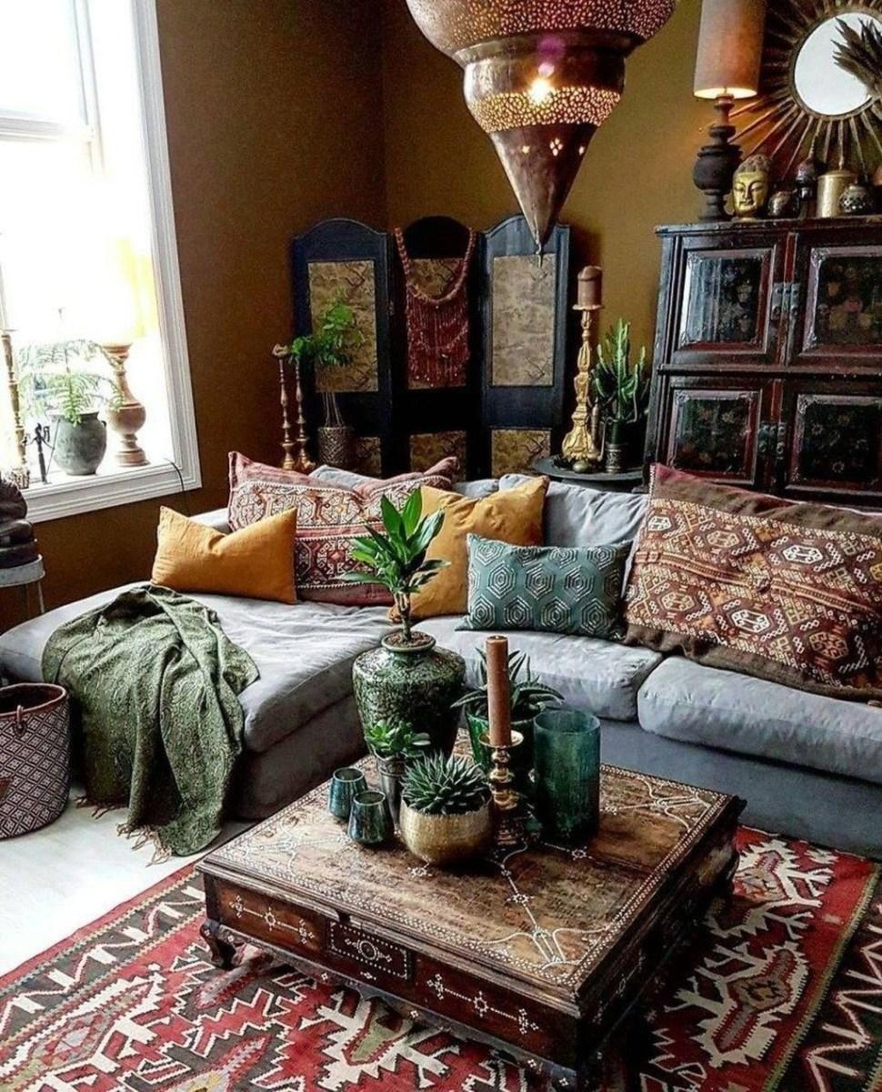 Perfectly Bohemian Living Room Design Ideas 16