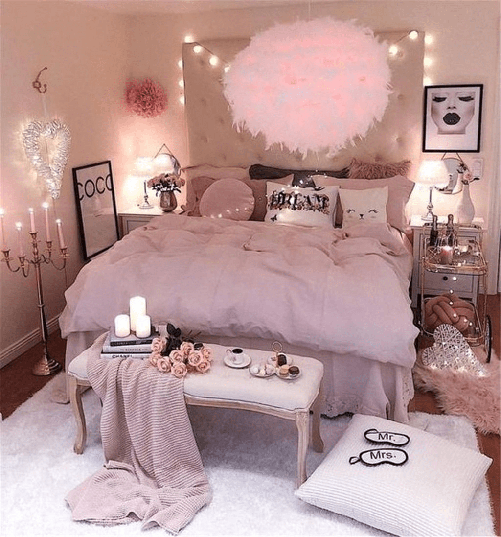 Pink Bedroom Decor You Can Try On Your Own 28