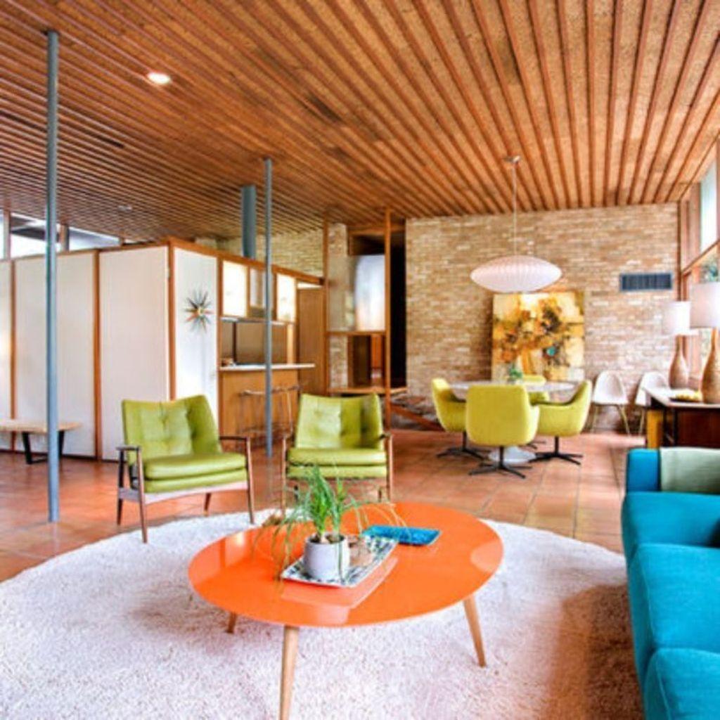 Stunning Modern Mid Century Living Room Design 01